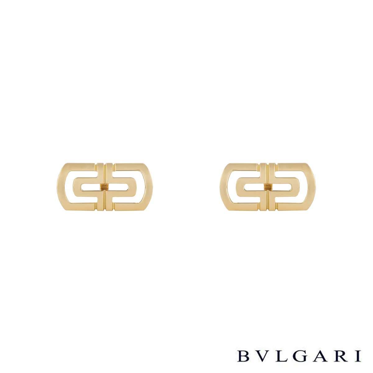 Bvlgari 18k Yellow Gold Parentesi Cufflinks